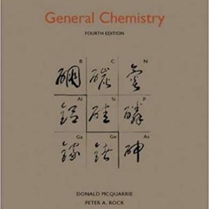 Solutions Manual for Accompany General Chemistry 4th Edition by Carole H. McQuarrie