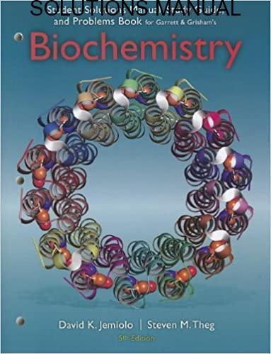 Student's Solutions Manual Biochemistry 5th edition by Garrett & Grisham