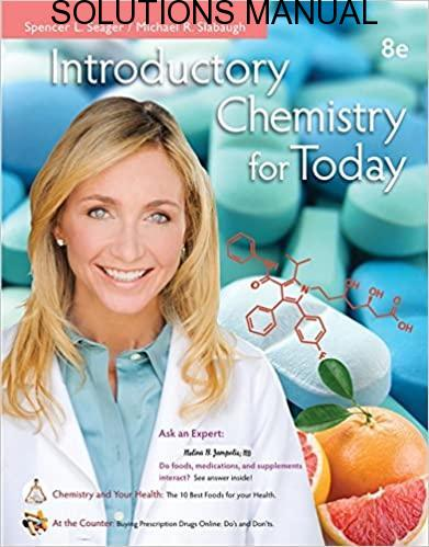 Student's Solutions Manual Chemistry for Today 8th edition by Seager & Slabaugh