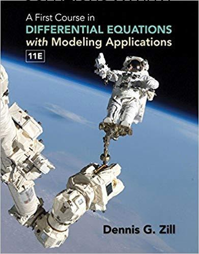 Solutions Manual A First Course in Differential Equations with Modeling Applications 11th edition by Dennis G. Zill