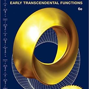 Solutions Manual Calculus: Early Transcendental Functions 6th edition by Larson & Edwards