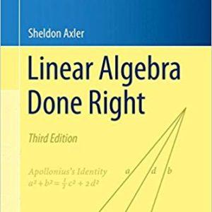 Solutions Manual Linear Algebra Done Right 3rd edition by Sheldon Axler