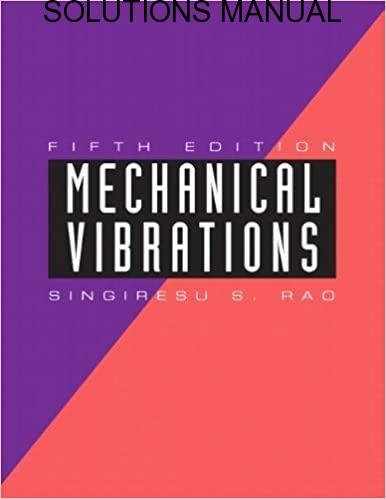 Solutions Manual Mechanical Vibrations 5th edition by Singiresu S. Rao
