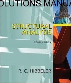 Solutions Manual Structural Analysis 8th edition by Russell Charles Hibbeler