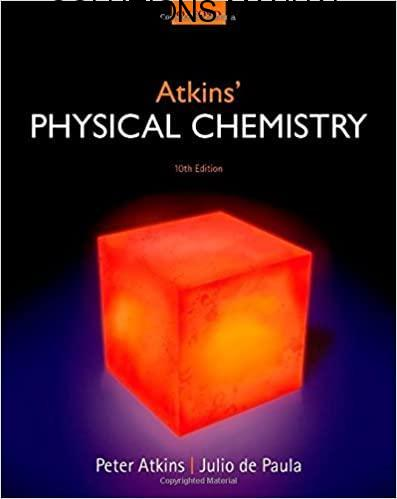 Solutions Manual Physical Chemistry 10th edition by Paula & Atkins