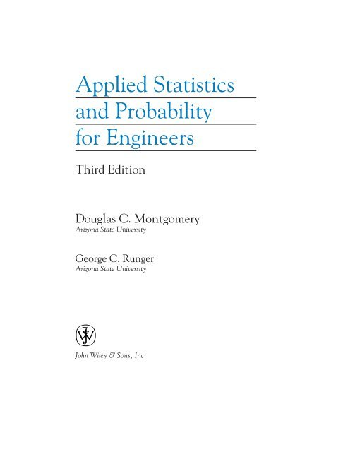 Solutions Manual of Applied Statistics and Probability for Engineers by Montgomery & Runger   3rd edition
