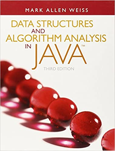 Solutions Manual of Data Structures and Algorithm Analysis in Java by Weiss | 3rd edition