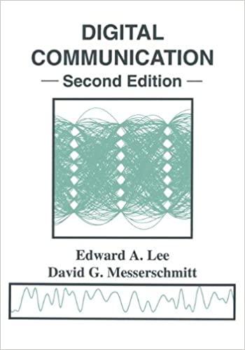Solutions Manual of Digital Communication by Lee & Messerschmitt   2nd edition