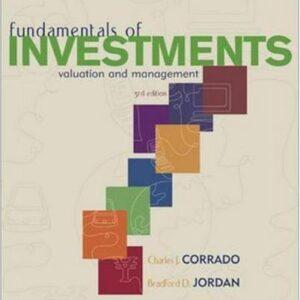 Solutions Manual of Fundamentals of Investments byBradford D. Jordan | 1st edition