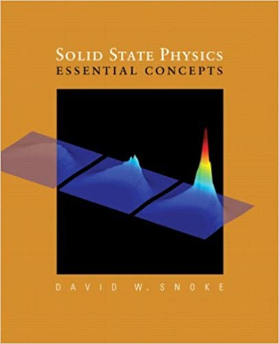 Solutions Manual of Solid State Physics: Essential Concepts by Snoke   1st edition