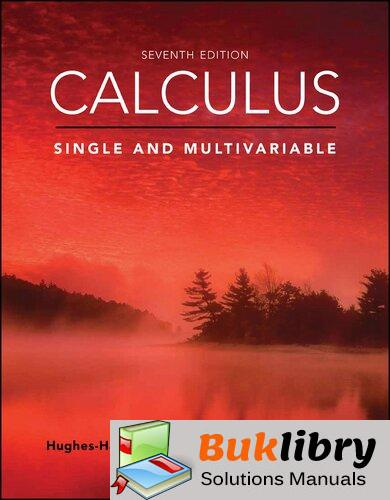 Solutions Manual of Accompany : Calculus, Single and Multivariable by Hallett | 7th edition