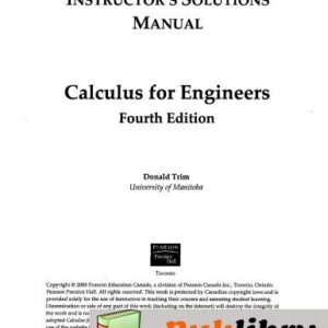 Solutions Manual of Calculus for Engineers by Trim | 4th edition