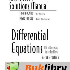 Solutions Manual of Differential Equations With Boundary Value Problems by Polking & Arnold   2nd edition