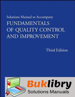 Solutions Manual of Fundamentals of Quality Control and Improvement by Mitra | 3rd edition